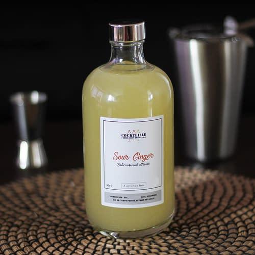 sour ginger mocktail en bouteille
